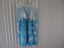 GIRLS NEW ELSA COSTUME DRESS QUEEN FROZEN AUTHENTIC DISNEY STORE SIZE 9/10 NWOT