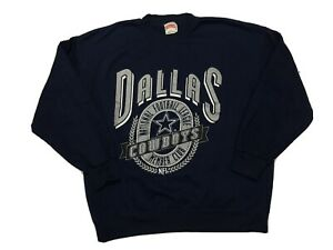 Vintage Dallas Cowboys Crewneck Sweater Mens Xl Large Nutmeg 90s Nfl Aikman Vtg