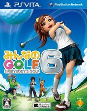 Usé Ps Vita Everyone's Golf 6 Psv 15011 Japon Import