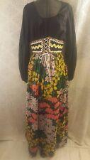 Ladies Howard Wolf Czech Polish Girl Costume Long Dress Floral Skirt Waist Small