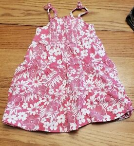 FADED GLORY TODDLER 3T PINK & WHITE FLOWER DESIGN DRESS