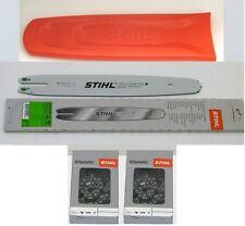 """Stihl Führungsschiene 35cm 3/8""""P 1,1mm 3005 000 3909 + 2 Ketten + Schwertschutz"""
