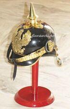 WWI GERMAN PRUSSIAN PICKELHAUBE HELMET BRAS ACCENTS IMPERIAL OFFICER SPIKE HEL