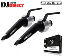 More details for 2x reloop concorde black cartridge turntable stylus needle by ortofon upgrade