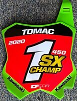 Eli Tomac 2020 Supercross Championship Replica SX Front Number Plate - Unsigned