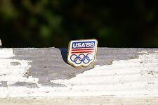 USA '88 1988 Olympic Rings Red White & Blue Metal Lapel Pin Pinback