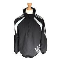 Vintage ADIDAS Black 1/2 Zip Pullover Sports Track Jacket Size Men's XL