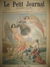 PAQUES LES CLOCHES MEURTRIER RUE DE RIVOLI HOTEL STE MARIE LE PETIT JOURNAL 1899