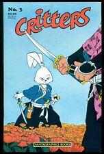 CRITTERS COMICS #3, 1986, NM 9.4, FANTAGRAPHICS BOOKS, USAGI YOJIMBO!