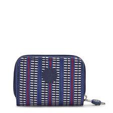 Kipling TOPS Small Purse/Wallet BLUE GEO PRINT FW21 RRP £32