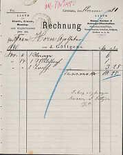 GRONAU, Rechnung 1890, Haus-, Garten- & Acker-Geräte J. Göttgens