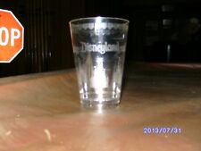 RARE DISNEYLAND COLLECTIBLE: CLEAR PLASTIC CUP, ETCHED W/ CASTLE & LOGO