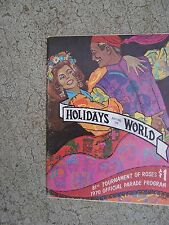 1970 Rose Bowl Parade Official Program Holidays Around the World USC vs Mich   R
