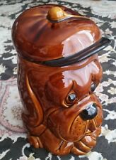 "Large 9.5"" Vintage Price & Kensington English Pottery Treacle Glaze Biscuit Jar"