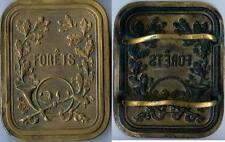 Plaque de métier - Garde forestier bronze fondu FERRET GRAELR d=96x74mm plat