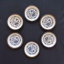 6 assiettes plates soucoupes saucers ceramic sandstone art nouveau surrealism