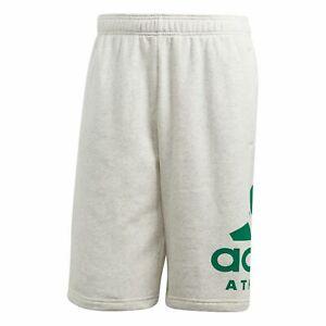 Adidas Essentials Id Alogo Shorts Trainingshort CW3600 White Melange Bold Green