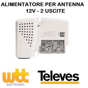 ALIMENTATORE PER ANTENNA AMPLIFICATORE TV DIGITALE TERRESTRE 2 USCITE 12V 400mA