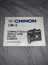 Original Chinon CM-3 Camera Illustrated Guide VGC