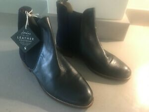 JOULES Westbourne Chelsea Leather Boots Navy / Velvet Sz 5 6 7 RP£140 FreeUKP&P
