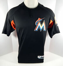 cef30fc8c 2018 Miami Marlins Johnny Giavotella  12 Game Issued Black BP Jersey