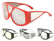 Wholesale 12 Pair Large Fashion Sunglasses with Color Mirror Lens - Assorted