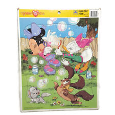 Vintage Disney Minnie n' Me Puzzle 90s Mouse Daisy Duck Frame Tray Preschool Toy