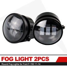 4Inch Round Fog Lights for 2011-2014 Ford F-150 2Pcs 30W LED Fog Lamp Smoke Lens