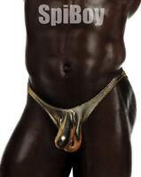SpiBoy--Men's Wet Look Cock-Sock Swim Thongs S-XLT--Free Shipping!!