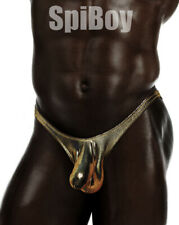 SpiBoy-Men's Wet Look Cock-Sock Swim Thongs S-XLT-Free Shipping!!