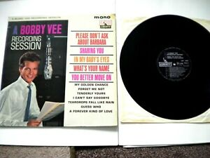 BOBBY VEE   A BOBBY VEE RECORDING SESSION LP  LBY 1084  IN EXCELLENT CONDITION