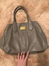 MARC By MARC JACOBS Classic Q Fran Francesca Putty Leather Tote Hobo Handbag