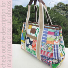 Coach Multicolor Pattern & Various Fabric Patchwork Large Tote HandBag
