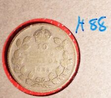 Canada 1933 SILVER  10 CENT - Great coin book filler - Nice readable date H-88