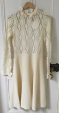 See By Chloe Ivoire Pointelle Tricot Robe Taille M Bnwt