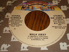 Donna Summer 45 Walk Away CASABLANCA PROMO