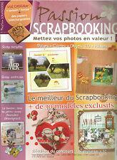 PASSION SCRAPBOOKING N°37 SCRAP EUROPEEN / SCRAP AMERICAIN / + 30 CREATIONS