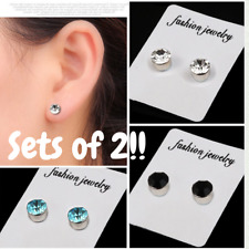 Magnetic Earrings Set Clip on Unisex Mixed Colours