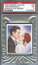 1939 Famous Love Scenes Card #26 San Francisco CLARK GABLE J. MacDonald PSA 3