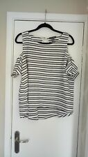 ladies striped cold shoulder top from Primark size 20 in great condition