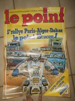 Ancienne Affiche publicitaire Le Point Rallye Paris Dakar Jean Graton Europe 1
