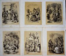 Incisione gravure antique print Lot Henri EMY Télory 6 Lithographies J. Rostaing