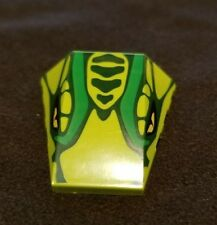 Lego Wedge Green 4x4 Cobra Snake Head Yellow Eyes/Scales Pattern Part Piece
