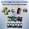 Cartidges Ink Canon Black/Color 240XL 241XL 245 246 270 280 XL lot CL Printers