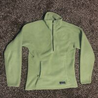 Patagonia Synchilla 1/2 Zip Classic Vintage Fleece Green Pullover Jacket XS