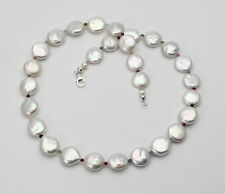 Süßwasser-Perlenkette mit kleinen turmalinen und Rhodolith-Granaten 47 cm lang