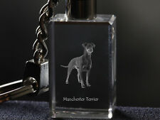 Manchester terrier, porte-clés, en cristal, qualité, Crystal Animals FR
