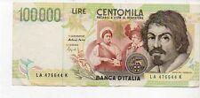 Lire 100000 Centomila Caravaggio 1994 serie LA 476644 K gov. Fazio
