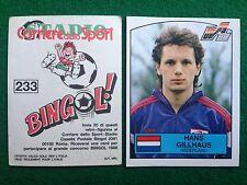 EURO 88 1988 n 233 OLANDA GILLHAUS ,  Figurina Sticker Calciatori Panini NEW