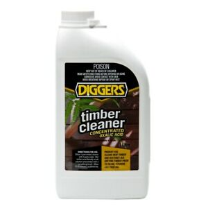 Diggers Liquid Oxalic Acid Concentrate 1L Timber Cleaner Preparation Restoration